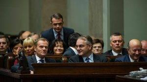 Donald Tusk (rechts) und Waldemar Pawlak (links) im Sejm