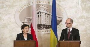 Ewa Kopacz und Arsenij Jazenjuk