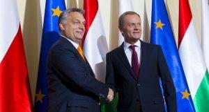 Viktor Orban und Donald Tusk