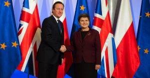David Cameron und Beata Szydlo