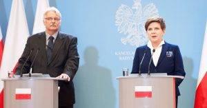 Beata Szydlo und Witold Waszczykowski