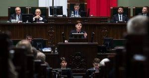 Beata Szydlo im Sejm