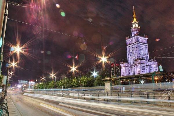 Warschau bei Nacht