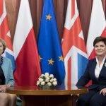 Premierministerinnen von Polen und Großbritannien im Gespräch