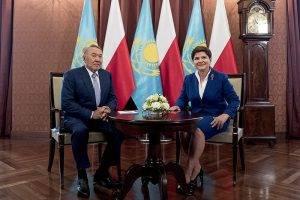 Nursultan Nasarbajew und Beata Szydlo