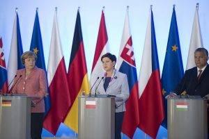 Merkel, Szydlo, Orban // (cc) P. Tracz / KPRM [Öffentliche Domäne] / Flickr