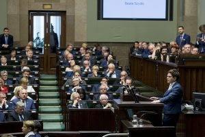 Rede von Beata Szydlo im Sejm