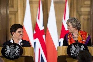 Beata Szydlo und Theresa May